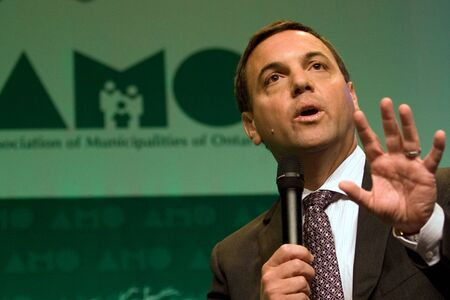 addressed: London, Ontario. August 23, 2011. Tim Hudak, leader of the Ontario Progressive Conservative party, addressed delegates at the 2011 Association of Municipalities of Ontario and used the opporutnity to do some campaigning. In his address Hudak rolled out so