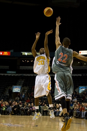 london lightning: London Ontario, November 24, 2011.  in a National Basketball League of Canada between the London Lightning and Moncton Miracles. London won the game 105-93.