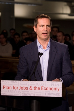 digi: London Ontario, November 28, 2011. Dalton McGuinty Premier of Ontario announces an $80million Southwestern Ontario Development Fund. The funding will be used to create new jobs and protect existing ones.  McGuinty made the announcement after touring Digi