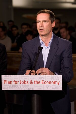 southwestern ontario: London Ontario, November 28, 2011. Dalton McGuinty Premier of Ontario announces an $80million Southwestern Ontario Development Fund. The funding will be used to create new jobs and protect existing ones.  McGuinty made the announcement after touring Digi