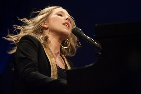 London, Canada - March 4, 2013. Canadian jazz singer and pianist, Diana Krall performs at the Budweiser Gardens in London Canada.  Editorial