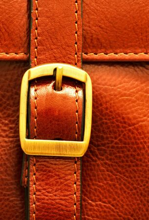italian leather briefcase buckle photo