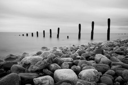 groynes: Groynes and Rocks Seascape