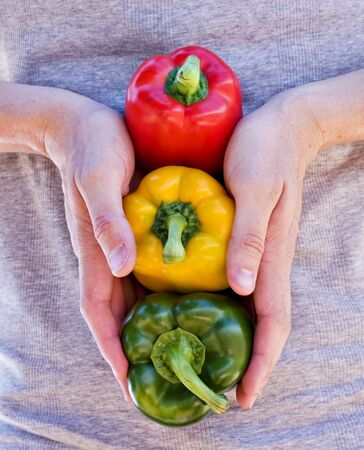 Juicy Ripe Bell Peppers Healthy Eating photo