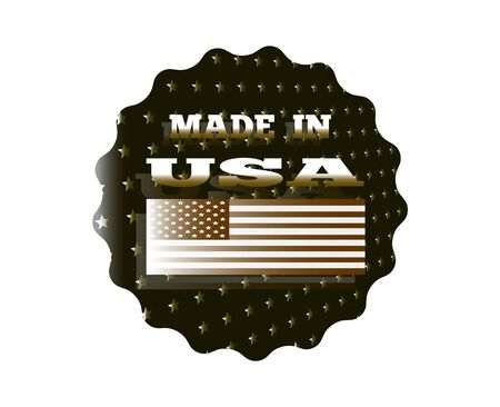 holographic sticker with the inscription made in the USA Illustration