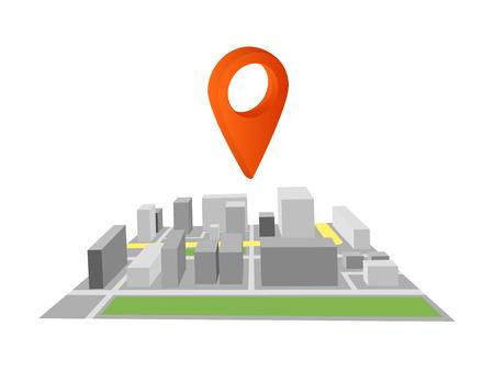geolocation icon, isometric 3d image