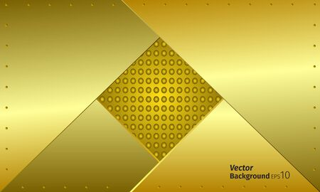 abstract background with gold armored gates are opened; 3d balls