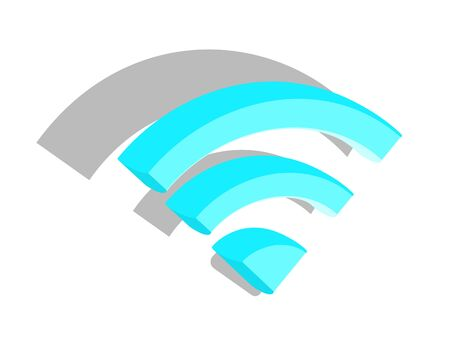 3d icon Wi-fi signal on a white background