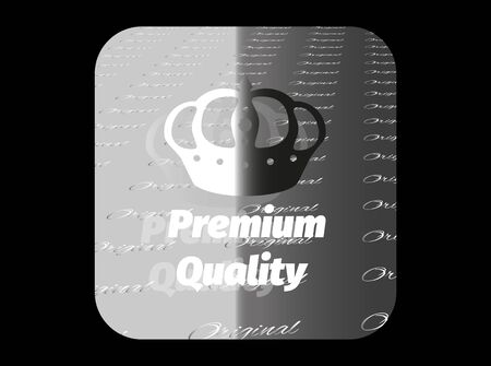 Holographic sticker with the image of a crown and guaranteed product quality