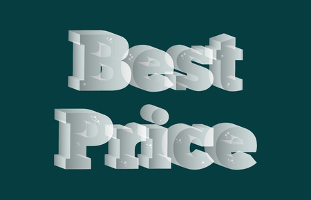Best price advertising sign made from ice Illustration
