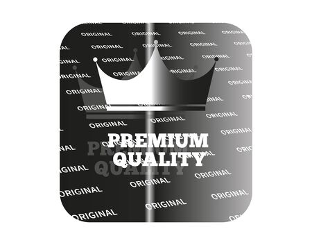 product quality: Holographic sticker with the image of a crown and guaranteed product quality