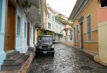 residential street: South America residential street