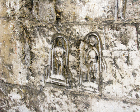 French figures carved in stone