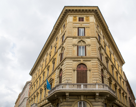 An old building in the center of ancient Roman Empire - currently Rome, Italy Stock Photo