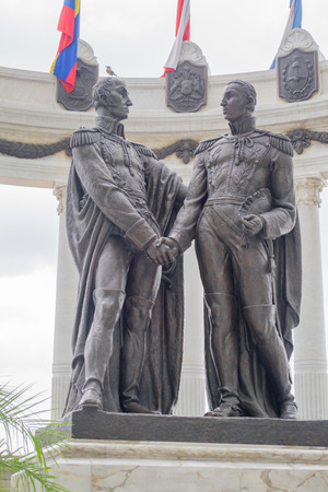 Monument of Bolivar and San Martin in Guayaquil Ecuador Stock Photo