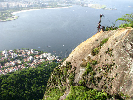 Spectacular panorama and aerial city view of Rio de Janeiro, Brazil Stock Photo - 54928989