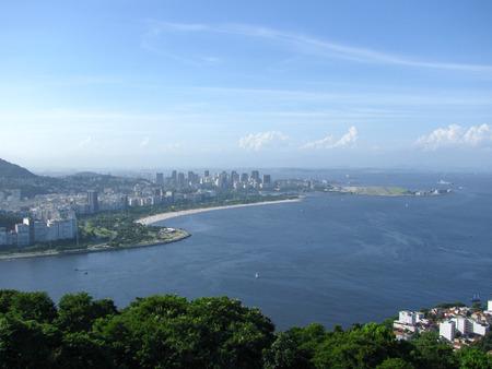 Spectacular panorama and aerial city view of Rio de Janeiro, Brazil Stock Photo - 54929024
