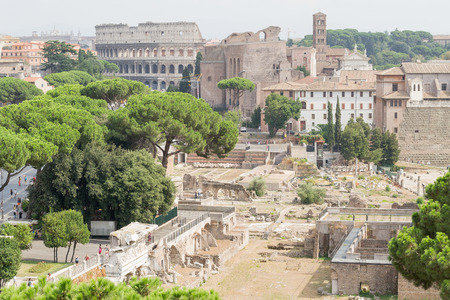 Spectacular panorama of ancient Roman empire - currently Rome, Italy Stock Photo - 54929026