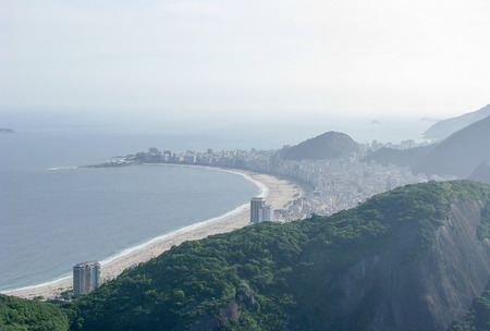 Spectacular panorama and aerial city view of Rio de Janeiro, Brazil Stock Photo - 54929032