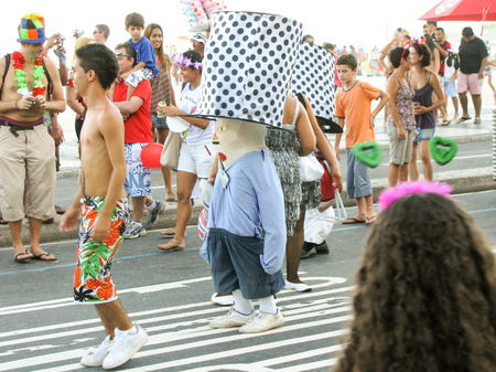 entertainers: Rio de Janeiro, Brazil - February 22: local people and tourists all around the world are being entertained by street entertainers the day before Carnival on February 22, 2009