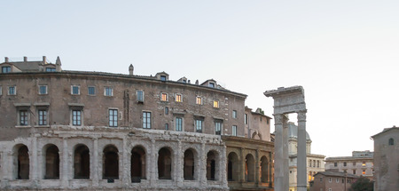 Colosseum in annihilated Roman Empire - currently Rome, Italy
