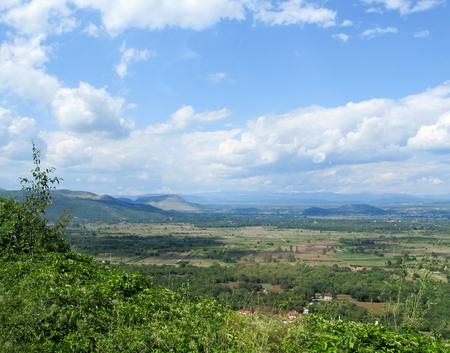 Amazing Croatian countryside panorama Stock Photo - 58597014