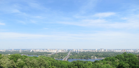 Spectacular panorama of Kiev, Ukraine