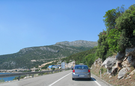 Mountain serpentine road view in the heart of Europe