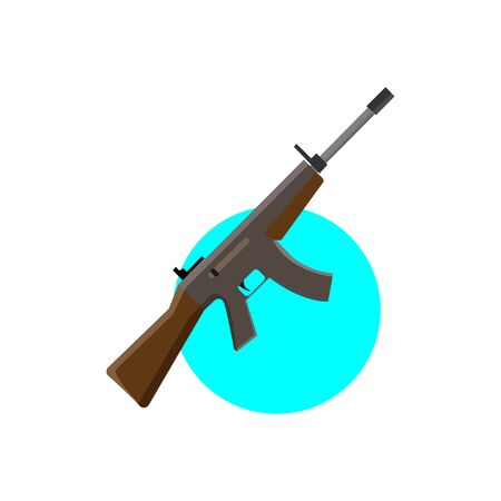 Rifle simple illustration clip art vector 矢量图像