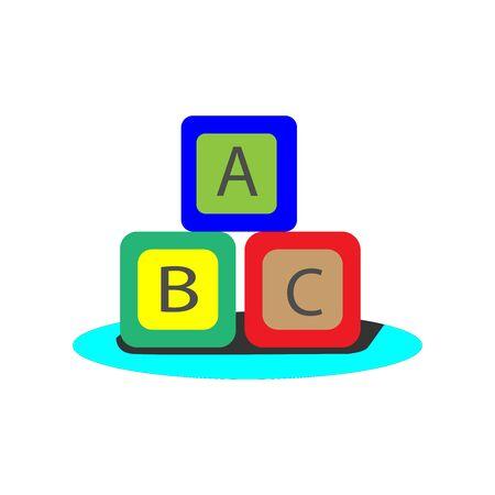 ABC toy simple illustration clip art vector Ilustração