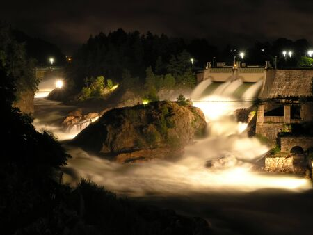 harnessing: Days of the falls in Trollhattan Sweden Stock Photo