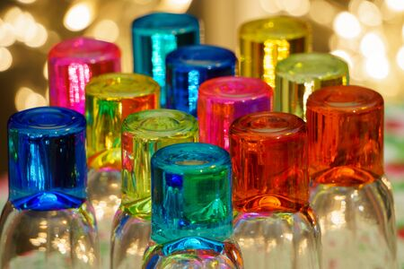 medium group of objects: Colored Glass