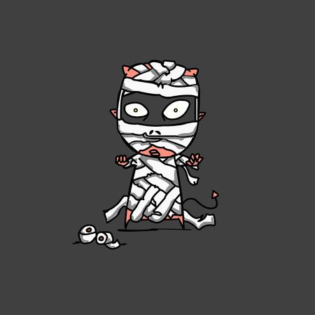 mummified: halloween mummy