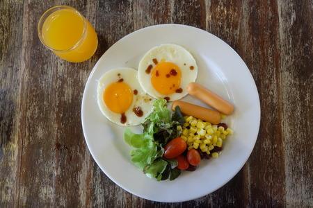 Desayuno americano Foto de archivo - 50983882