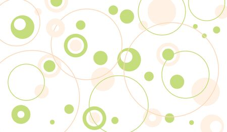 Circle pattern green spring background vector illustration