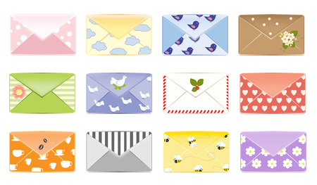 Email background letter design mailbox vector illustration set