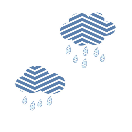 Clouds Sky Abstract Rain Nature Vector Illustration Ilustracja
