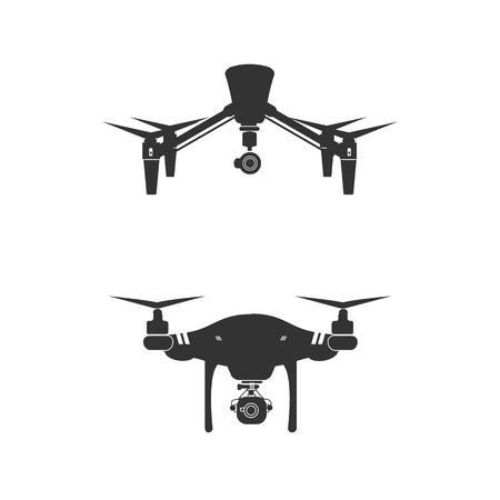 Drone Logo Design Icon Vector Illustration Ilustracja