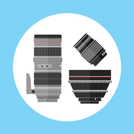 Cinema Pro Photo Digital Lens Equipment Icon Vector Illustration