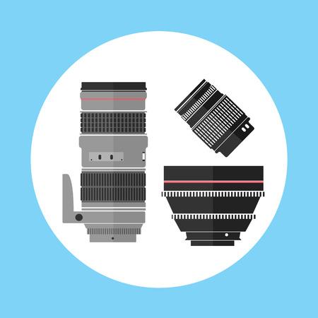 pro: Cinema Pro Photo Digital Lens Equipment Icon Vector Illustration