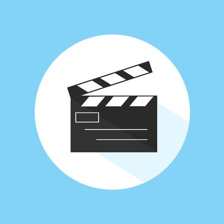 clapboard: Clapboard Video Cinema Studio Equipment Pro Vector Illustration