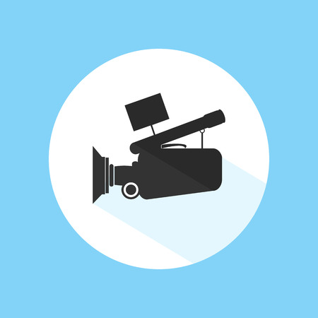 Video Camera Cinema Icon Silhouette Vector Design Illustration
