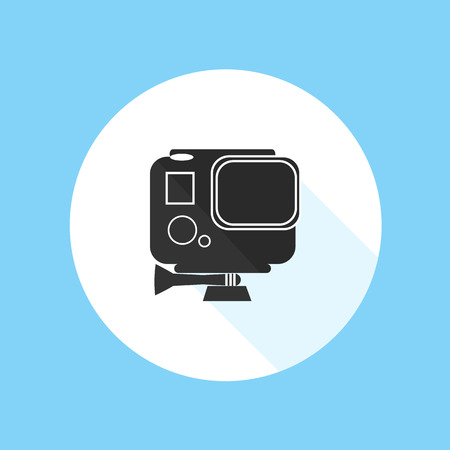 versatile: HD Action Camera Pro Sport Silhouette Vector Illustration Illustration