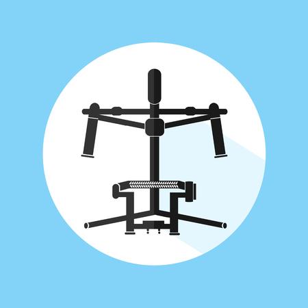 stabilizer: Professional Equipment Gimbal Camera Stabilizer Vector Illustration