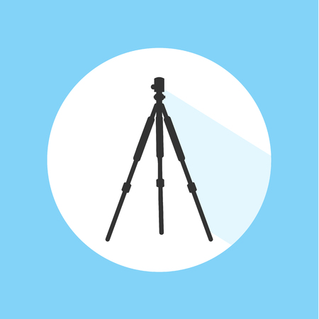 Camera Tripod Technology Equipment Pro Silhouette Icon Vector Illustration