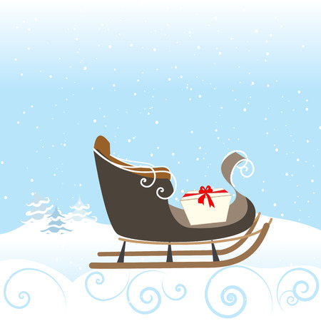 snow sled: Christmas Sled Gift Snow Snowflake Surprise