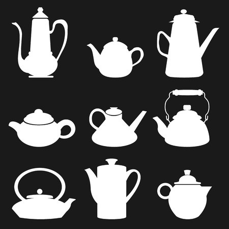 Tea Coffee Icon Black Vector Illustration