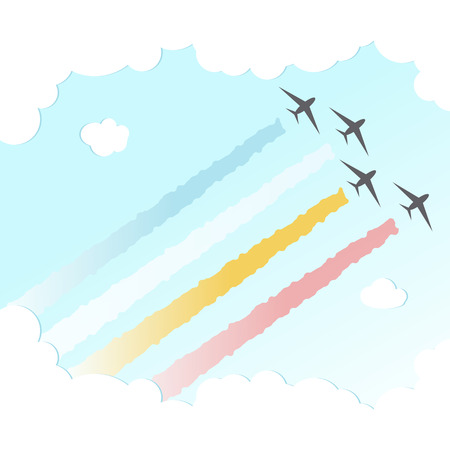 Parade Plane BackgroundJoy Peace Colourful Design Vector Illustration Ilustracja