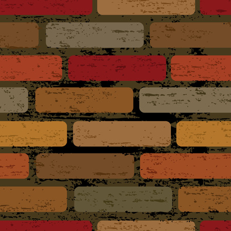 red brick repetition: Seamless tiling print patterns of decoration brick wall style. Created especially to look at their best when tiled. Illustration