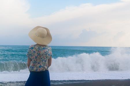 Incredible huge wave at sea.